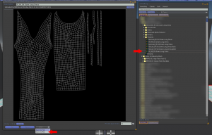 From your Second Life inventory, open: UV_MI_Slit Down Long Dress. Save as PNG to  your hard drive.