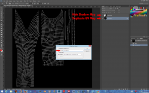 1 Hide Shadow Map Layer 2 Duplicate UV Map Layer (Background) 3 Name the new layer.