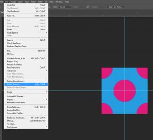 Edit Define Pattern
