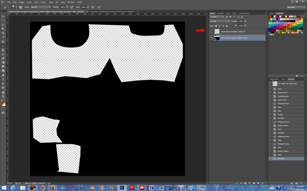 Hide the SLUV Map layer, Save As PNG, Test in Second Life.