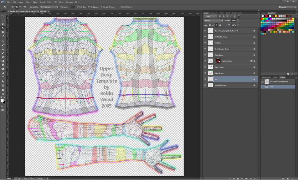 Open the file:  SL Top Layers.psd.  Save As PNG file, and upload to Second Life.